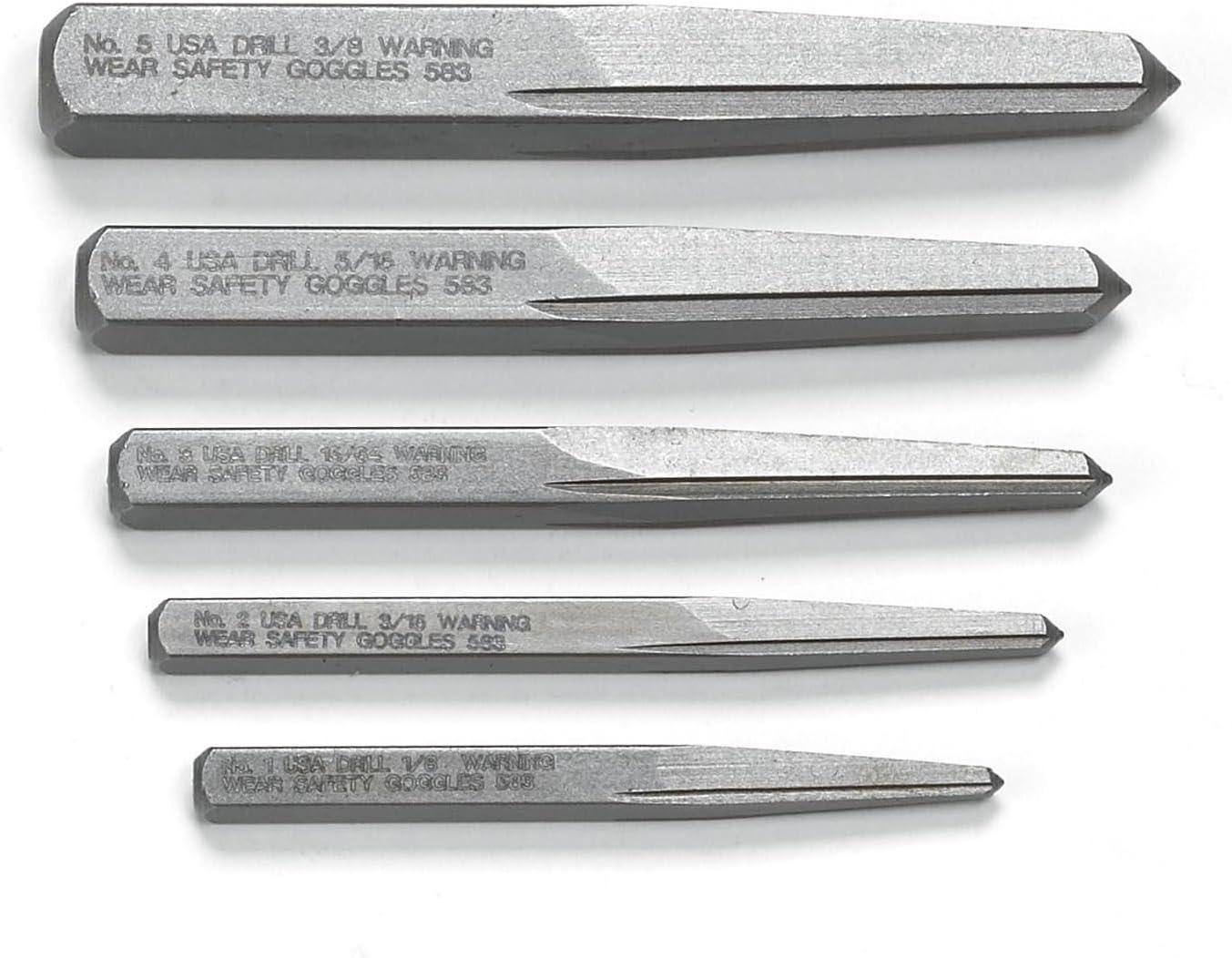 Kd Tools KDS720 5 Piece Screw Extractor Set