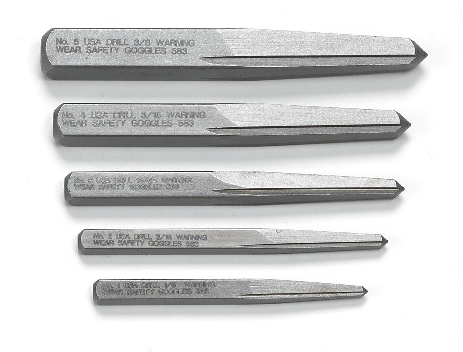 GEARWRENCH 5 Pc. Straight Fluted Screw Extractor Set - 720DD by GearWrench