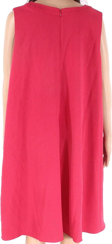 Adrianna Papell Womens Size Split Neck Shift Dress Plus