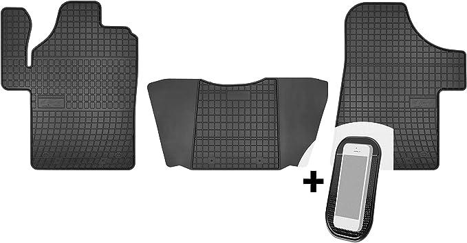 Moto Moltico Gummimatten Auto Fußmatten Gummi Automatten Passgenau 3 Teilig Set Passend Für Mercedes Vito Viano 2003 2018 Auto