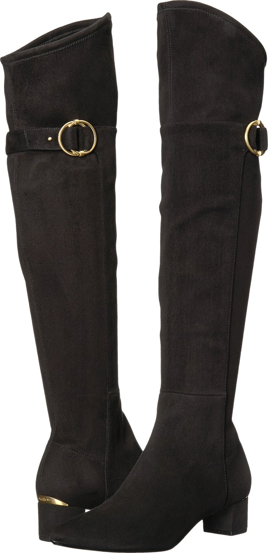 Calvin Klein Women's Georgeanna Over The Knee Boot, Black, 8 Medium US