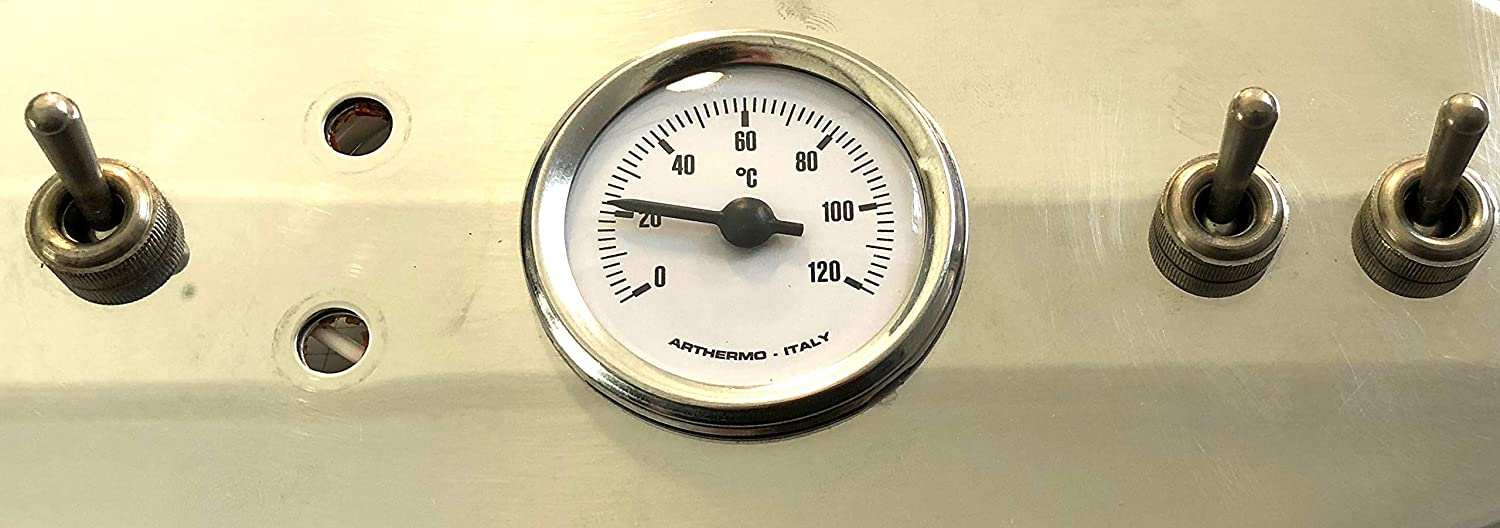 Thermometer Manometer Temperaturanzeige weiss 52mm Francis Francis X1 NEU