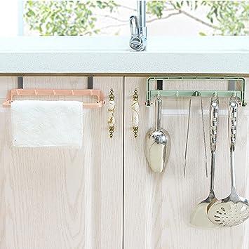 cieken toallero para colgar titular organizador soporte para armario de armario de cocina hogar Hanger Durante Puerta Barra de toalla estante de baño ...