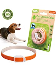 FOOMEXT Flea and Tick Collar for Cats and Dogs Natural Botanic Essential Oil Protection Collar Lasting Up to 60 days Waterproof and Adjustable (Orange)