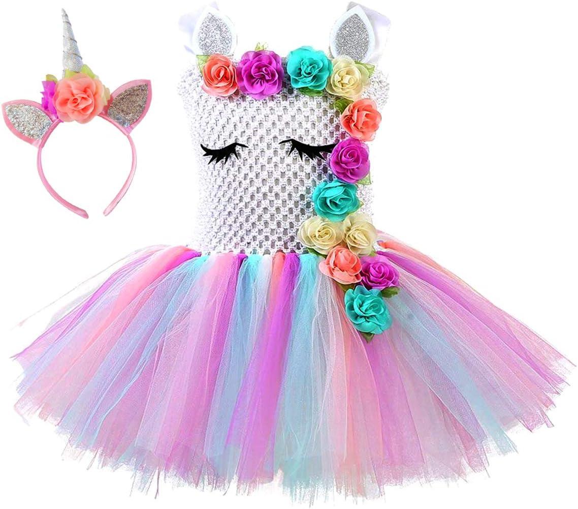 Vestido de tutú de princesa de unicornio para niñas, color ...