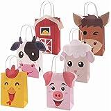 Faisichocalato Farm Animal Party Favor Bags Barnyard Birthday Gift Treat Goody Bags Kraft Paper Centerpiece Decorations…