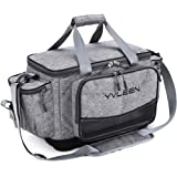 YVLEEN Fishing Tackle Box Bag - Outdoor Large Fishing Tackle Storage Bag - 100% Water-Resistant Polyester Material - Fishing