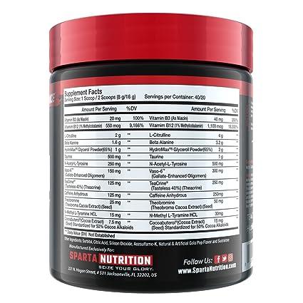 Kraken Pre-Workout by Sparta Nutrition (Cola Pop): Amazon