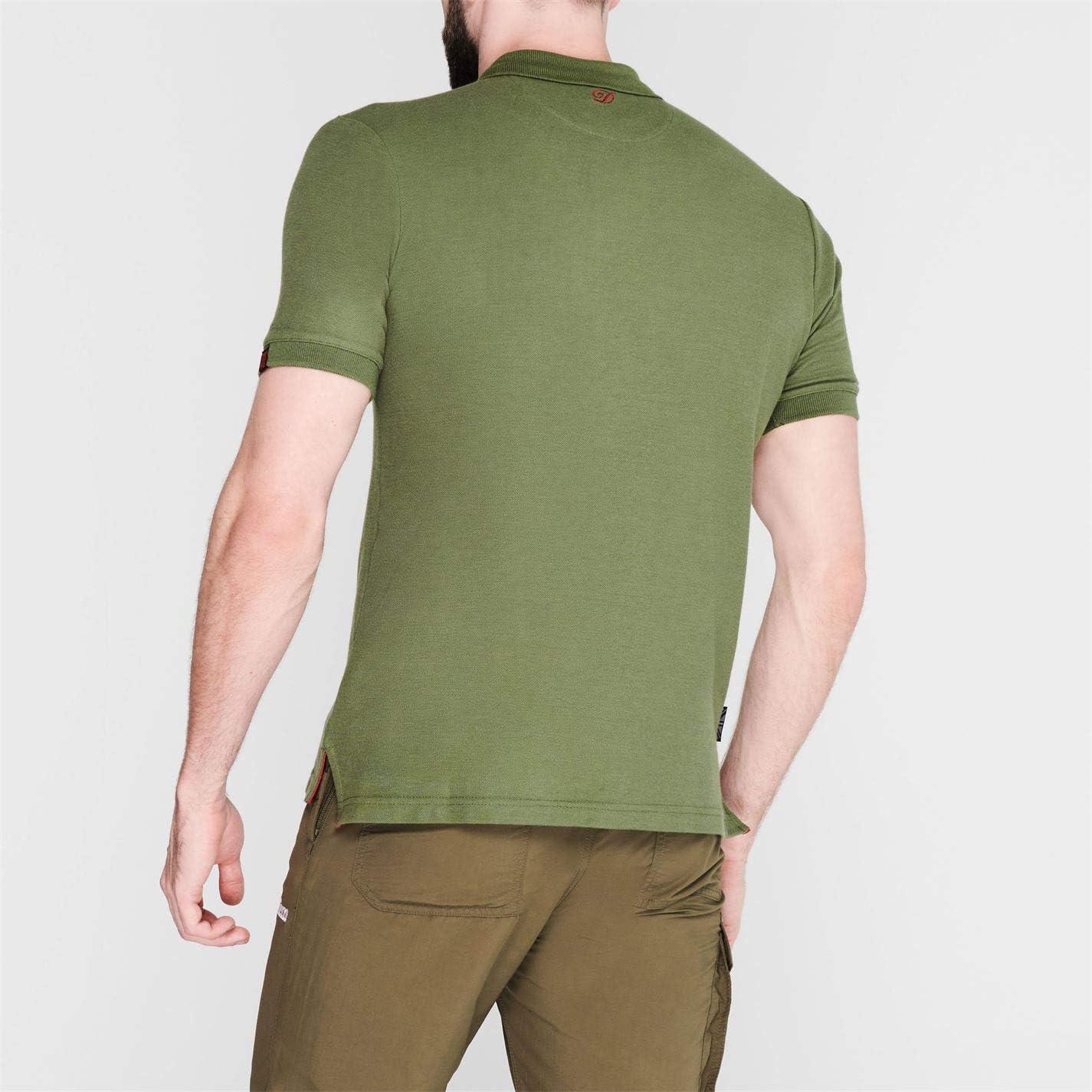 Diem Mens Polo T Shirt Fishing Tee Top Collar Crew Neck Short Sleeve Print