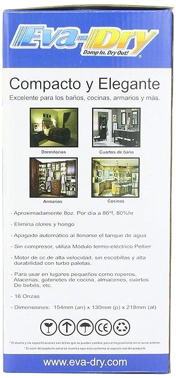 Amazon.com: Eva-dry Edv-1100 Electric Petite Dehumidifier, White: Home Improvement