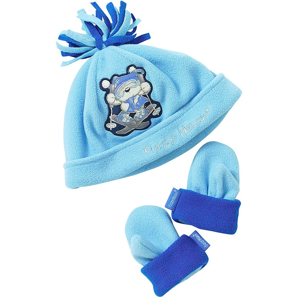 Fizzy Moon Baby Boys Polar Fleece Hat and Mittens Set