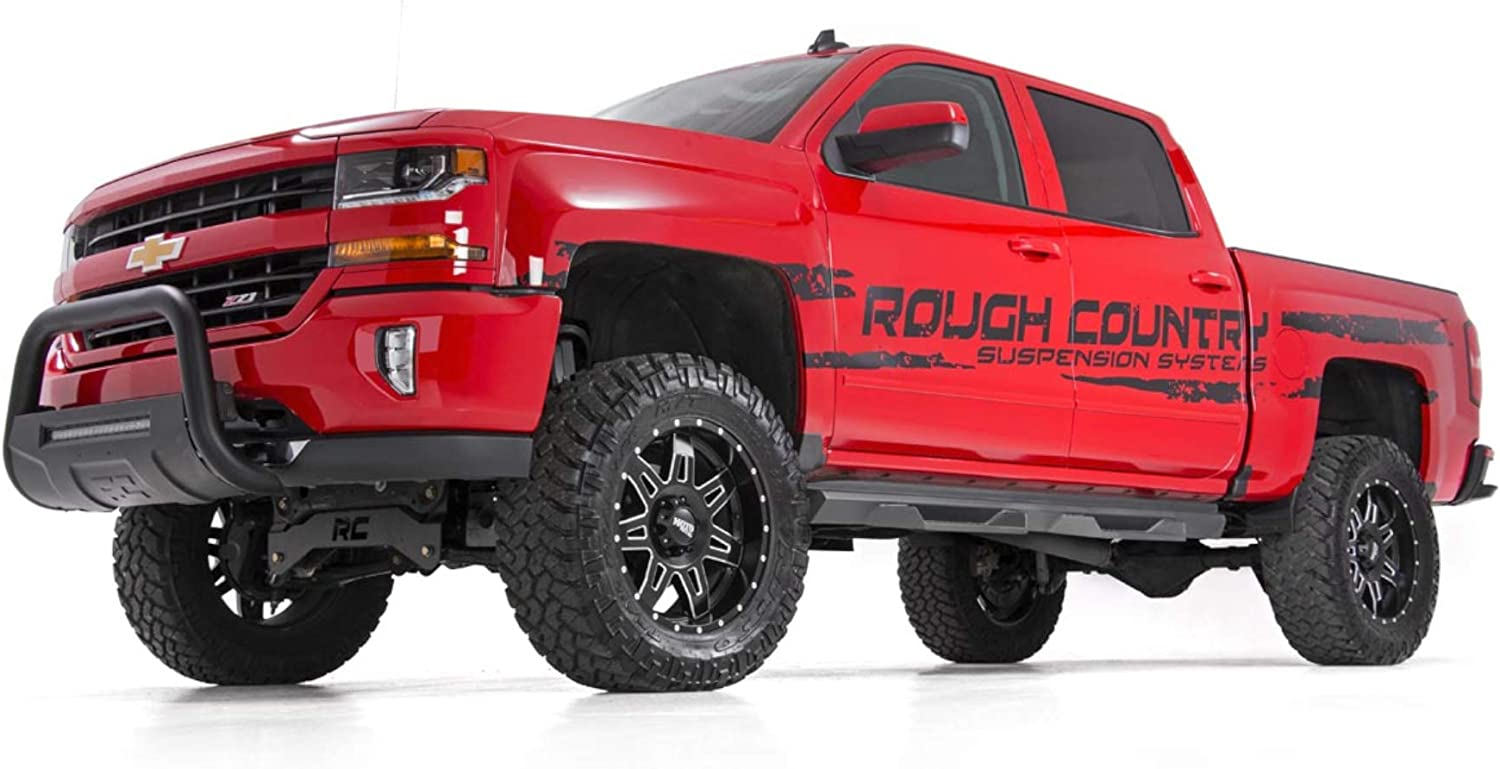fits Crew Cab Truck Side Steps  SDS990685 Rough Country DS2 Drop Steps 1999-2006 Chevy Silverado GMC Sierra