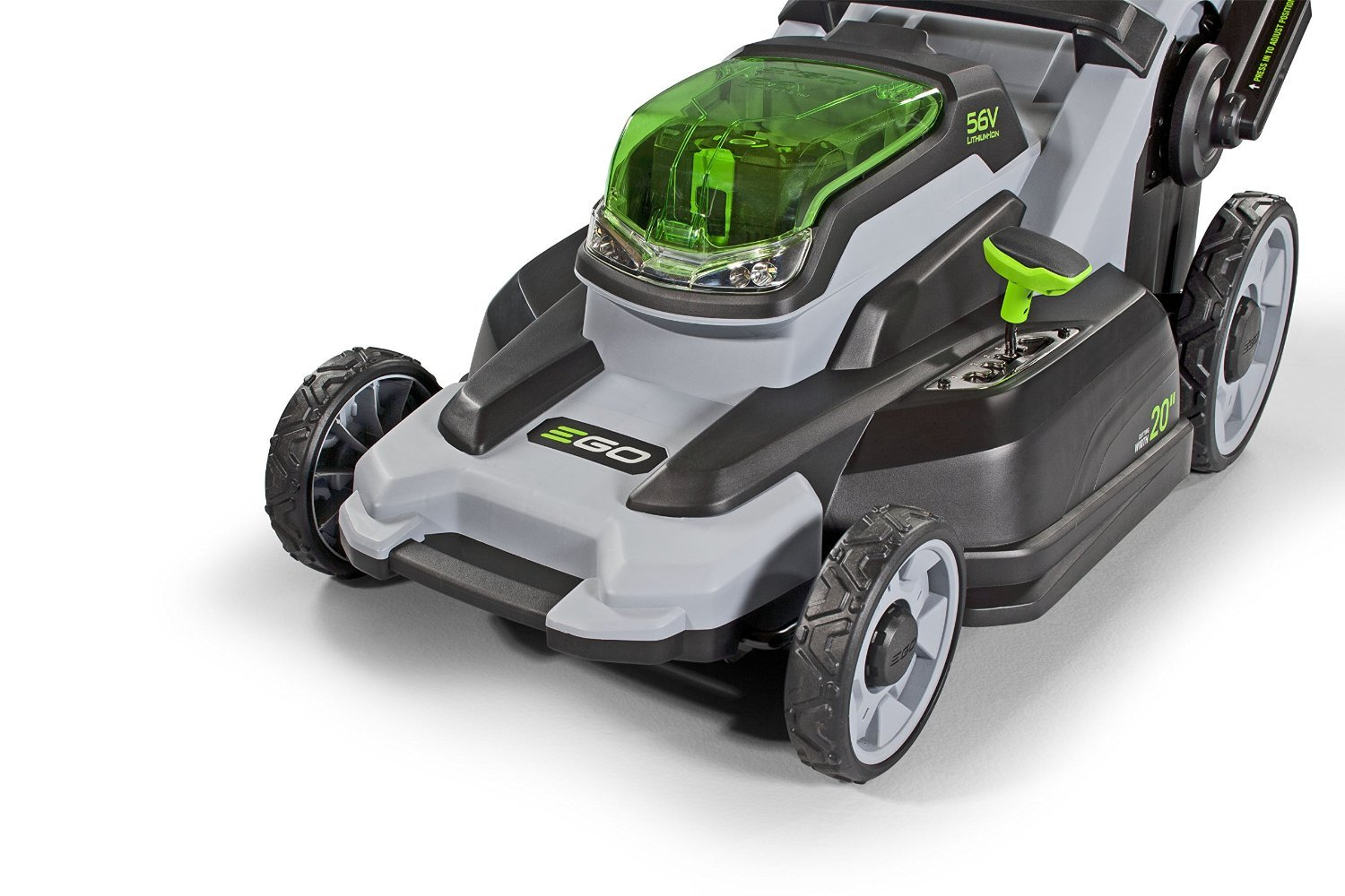 EGO Power+ LM2000-S 20-Inch 56-Volt Lithium-Ion Cordless Walk Behind Lawn Mower (Battery and Charger Not Included) 3 Compatible with all EGO power+ arc lithium batteries 20 in. cut capacity Weather-resistant construction