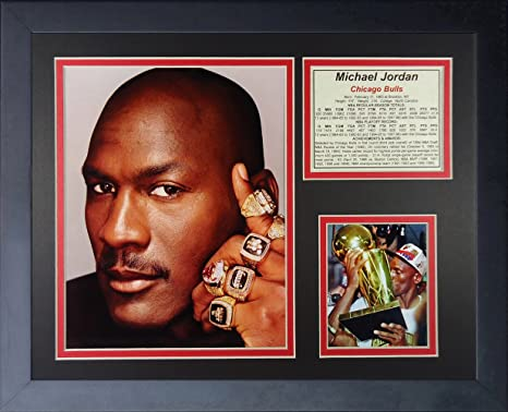 Legends Never Die QuotMichael Jordan Ringsquot Framed Photo Collage