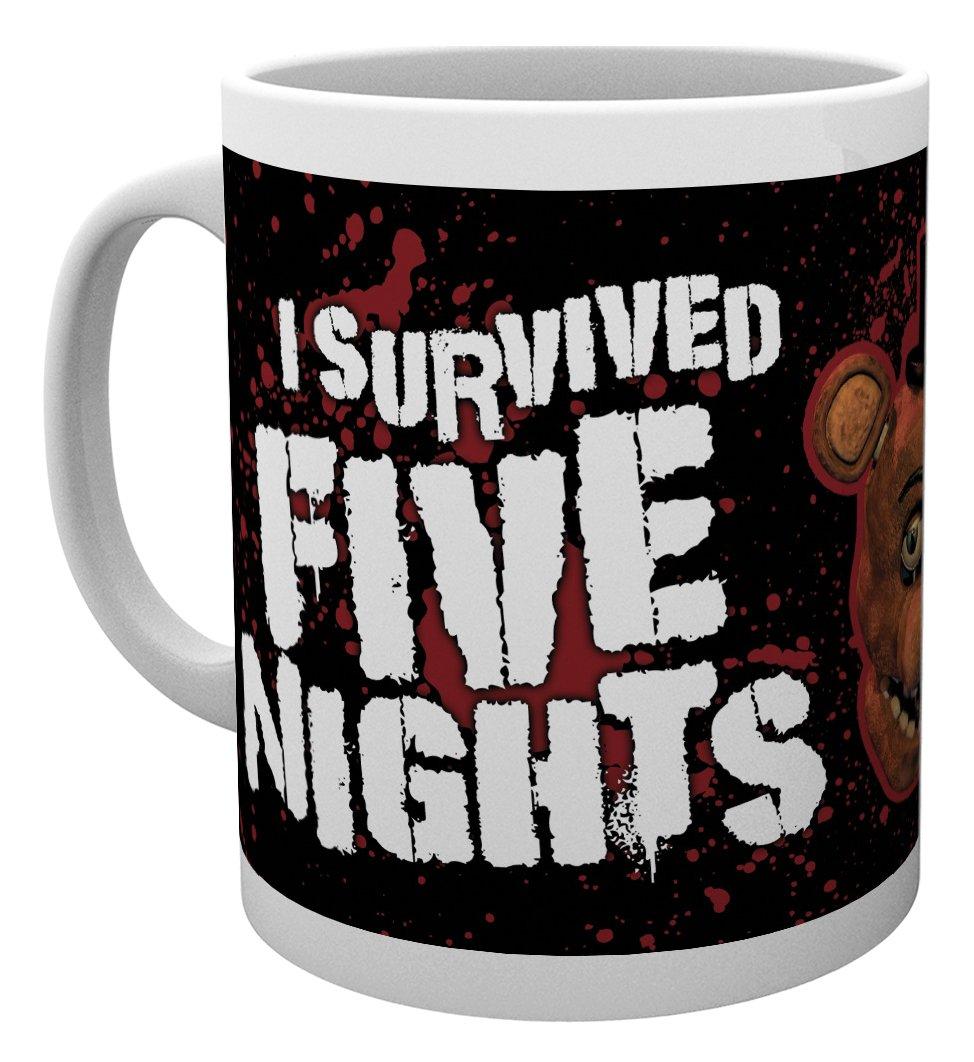 GB eye LTD MG1514 , Five Nights at Freddys, I Survived, Mug, Wood, Various, 15 x 10 x 9 cm
