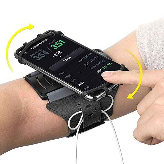 Armband Phone Holder 180 Degree Rotatable With Earbud Holder Sweatproof Arm Bag For 4 To 6 Inch Smartphone For Iphone 6 7 8 Mobile Phone Accessories