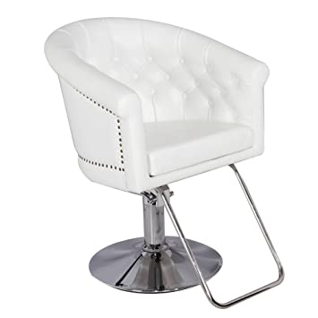 amazon com generic hydraulic styling chair white barber chair salon rh amazon com