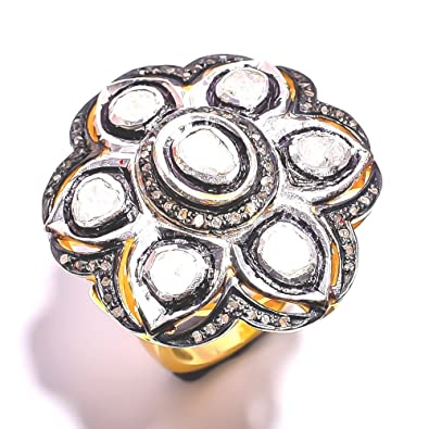 Buy Divya Gin Diamond Rose Cut Pave Victorian Jewelry Solid