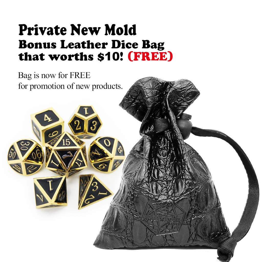 Haxtec Metal Dice Set D/&D Polyhedral DND Dice for Dungeons and Dragons RPG Table Games-DND Dice Antique Iron