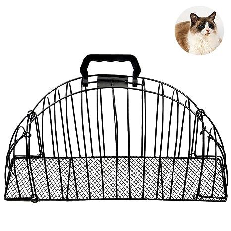 Jaula de baño para gatos, doble puerta, para mascota, gato, cachorro,