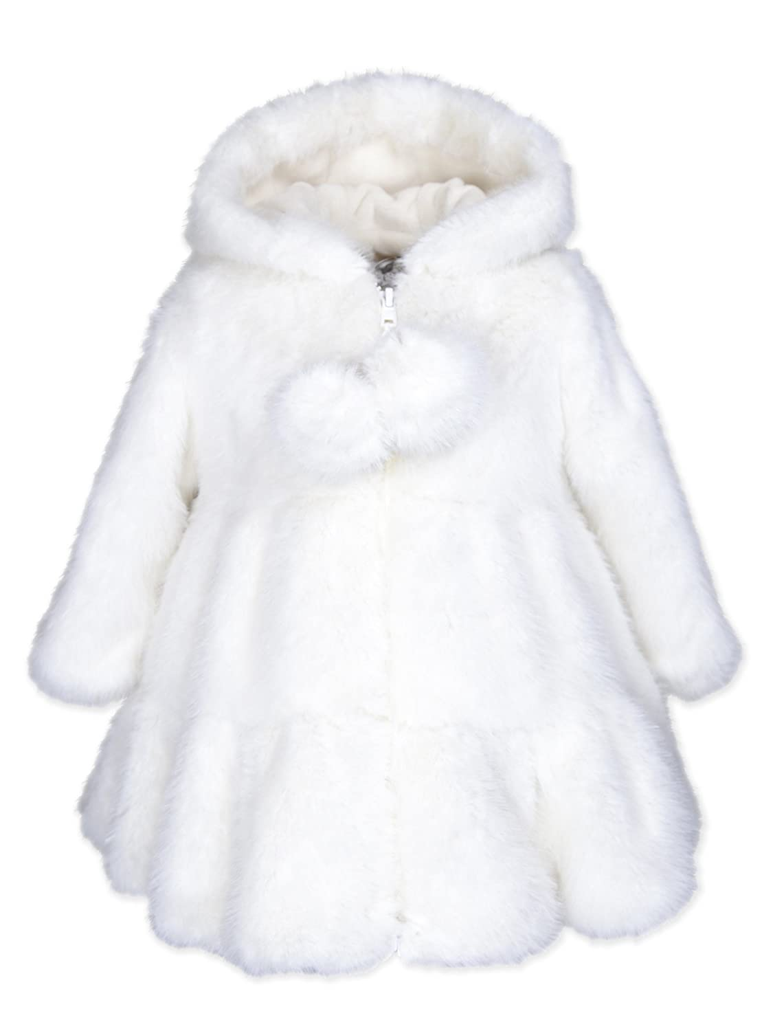 68544a5ed Amazon.com  Widgeon Baby Girls Hooded Faux Fur Swing Coat 3674  Clothing