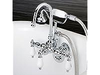 Kingston Brass CC10T1 Vintage Leg Tub Filler with Hand Shower, 4-3/4-Inch, Polished Chrome