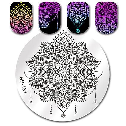 Born Pretty 5 Plantillas De Estampación De Mandala Para