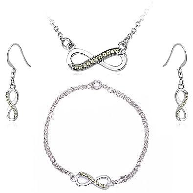 Timothy Stone Swarovski Elements - Infinity - Argent - JAUNE  Amazon ... 60df12b890da