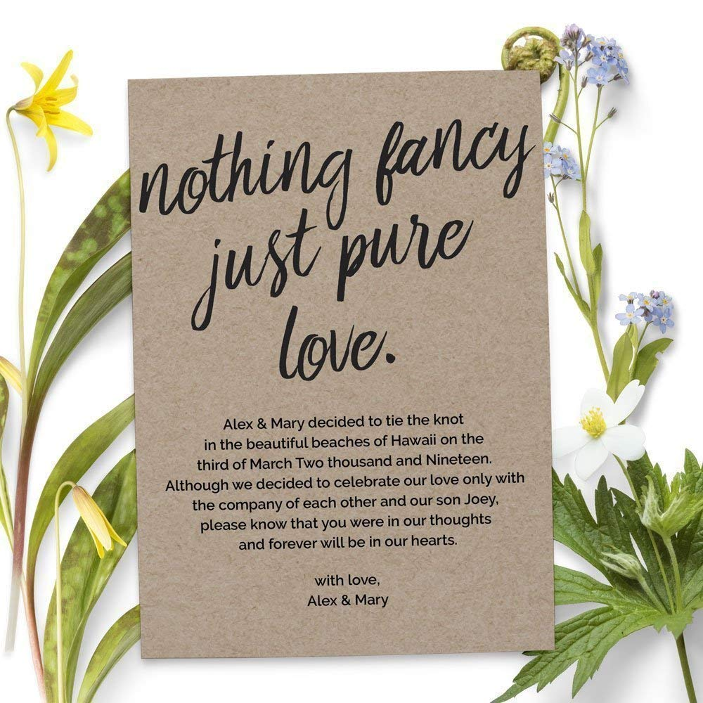 Amazon.com: Nothing Fancy Just Pure Love Rustic Wedding