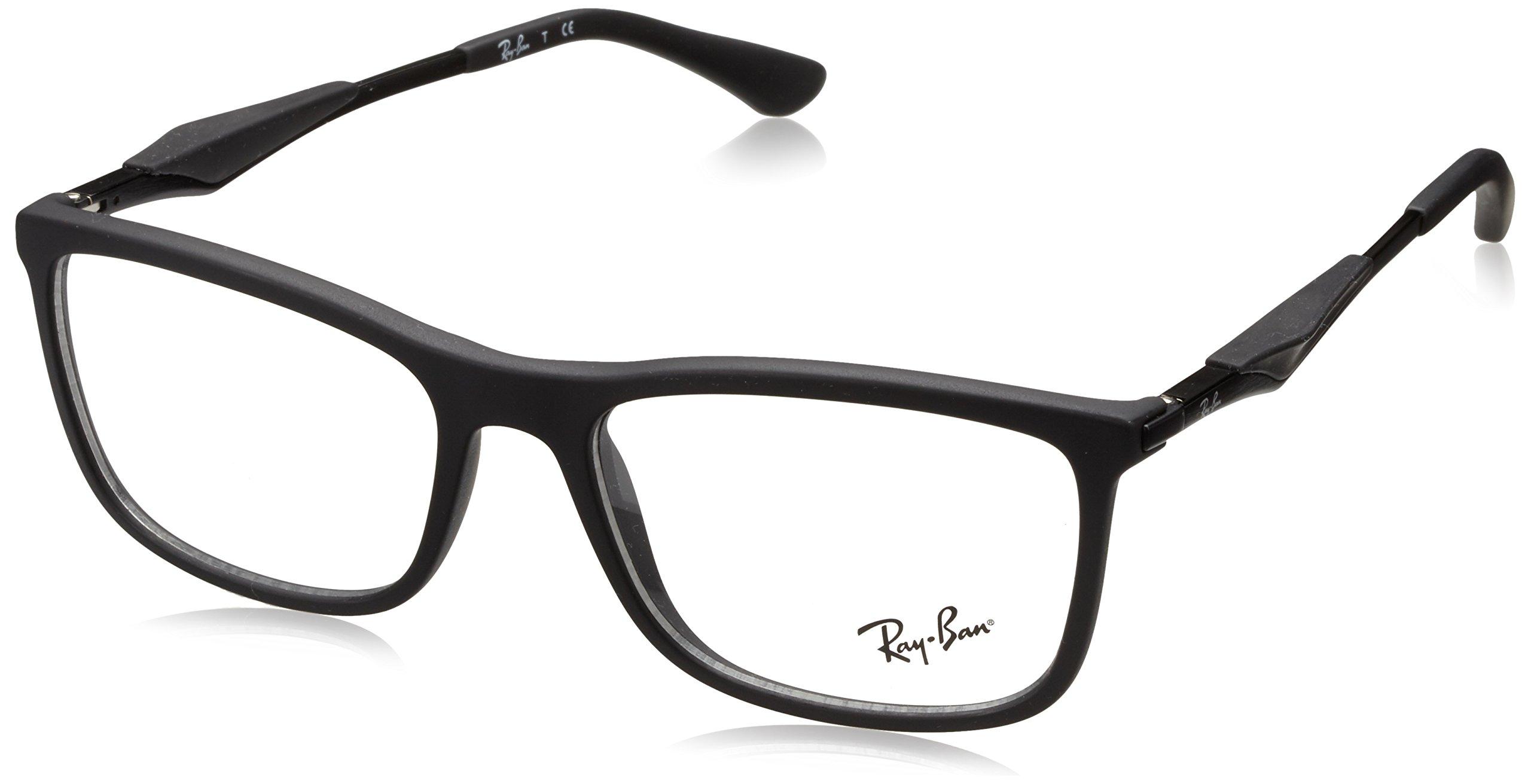 Ray-Ban Men's RX7029 Eyeglasses Matte Black 55mm