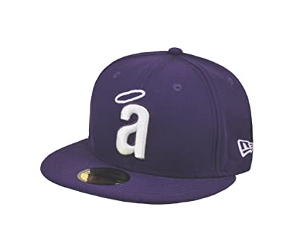 NEW ERA MLB Anaheim Angels Cooperstown Throwback Purple 59fifty Fitted Cap  (7 1 2 4c2c9aafaa6e