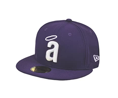 46eedfeb980628 NEW ERA MLB Anaheim Angels Cooperstown Throwback Purple 59fifty Fitted Cap  (7 1 2