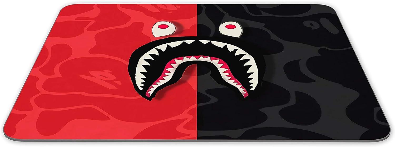 JNKPOAI Bape Shark Mouse Pad Square Rubber Office Mouse Pad
