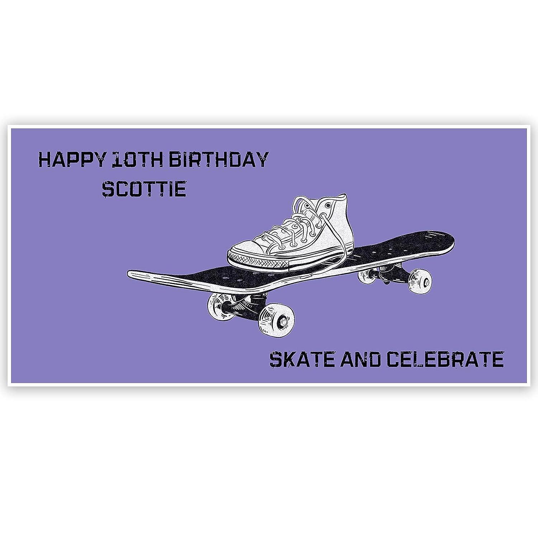 Skateboard Birthday Personalized Banner