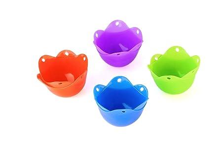 Silicona Escalfador de huevos para familia y amigos Pack - 8 ...