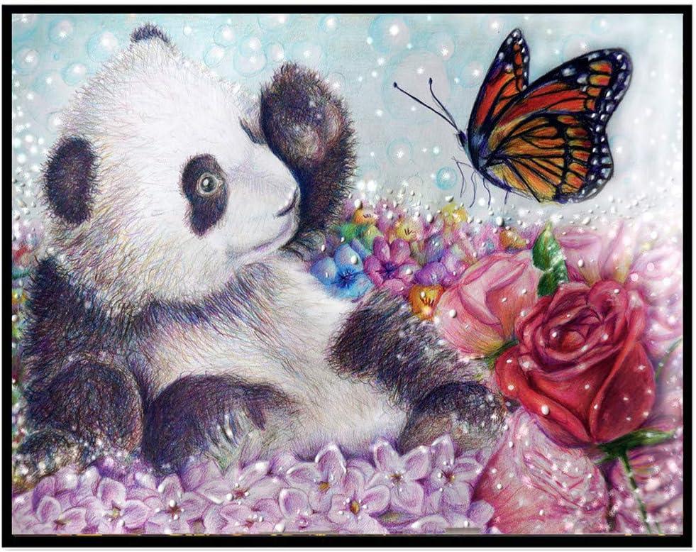 Broderie Millenniums 5d Bricolage Diamant Peinture Animal Panda Papillon Rose Broderie Peinture Murale Point De Croix Peinture Kits Diy Decoration Salon Chambre Cadeau 30x25cm Cuisine Maison Hotelaomori Co Jp
