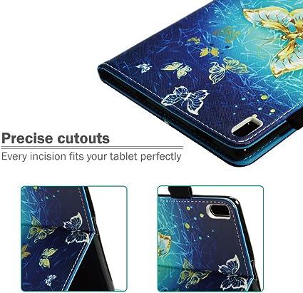Pittura Protettiva Pelle Premium PU Case per Lenovo Tab 4 TB-8504F // Lenovo Tab 4 TB-8504X Farfalla Blu Penna Gratuita Billionn Lenovo Tab 4 8 Cover Custodia con Stilo Titolare