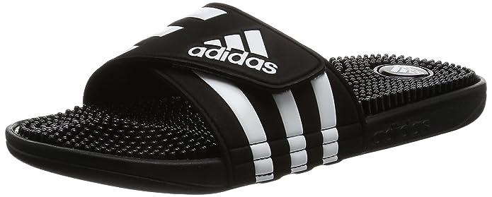adidas Adissage, Chaussures de Plage et Piscine Homme, Noir (Cblack/Gold MT/Cblack Cblack/Gold MT/Cblack), 39 1/3 EU