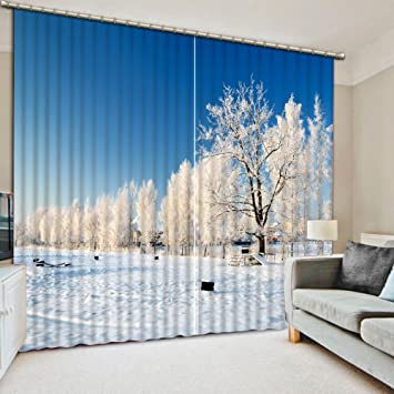 Amazon Com Sproud Winter 3d Curtains For Living Room Bedroom Photo