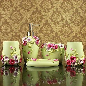 XX & GX Romántico Señor Casa Verde cuarto de baño Ideas Europea Aristokraten Juego Resina con