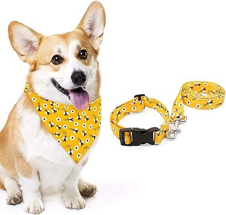 Summer Bandana Tie On Pet Bandana Just Buzzing Around Bee Dog Bandana Cat Bandana Bee Bandana Spring Dog Bandana