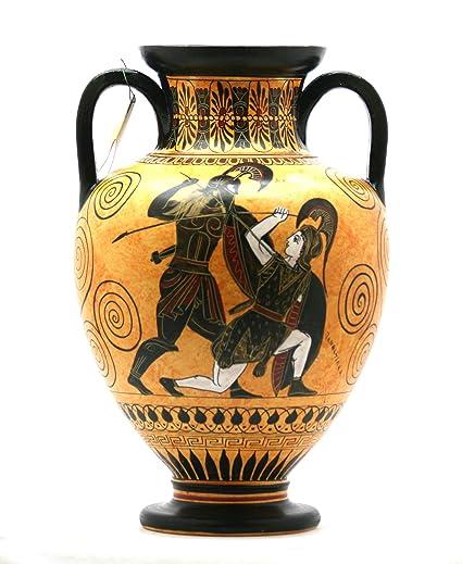 Amazon Amphora Achilles Slaying Penthesilea Ancient Greek Vase