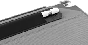 ZUGU CASE Apple Pencil 1 & 2 Holder Sticker - Peel N Stick Elastic Stylus Pocket (Black)
