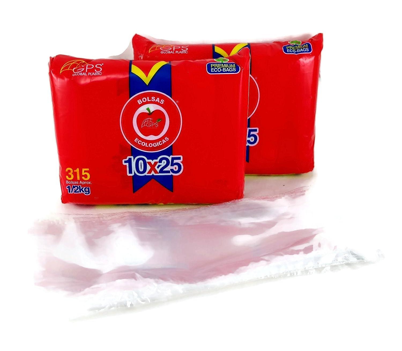 Amazon.com: Biodegradable Clear Plastic Flat Open Poly Bag ...