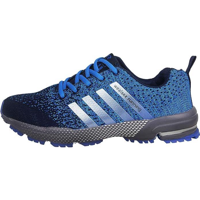 wealsex Chaussures De Course Basket Running Compétition Sport Trail Entraînement Homme Femme Fitness Tennis Sneakers 35 46