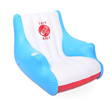 HALOFUN GoFloats Lazy Buoy Floating Lounge Chair With Cup Holders   The  Most Comfortable Pool Float