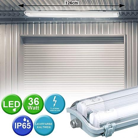 LED 44 Watt Decken Leuchte Röhren Wannen Industrie Hallen Strahler Tages-Licht
