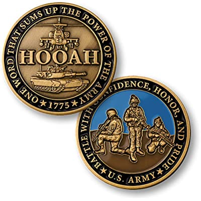 U.S. Army Hooah Challenge Coin: Toys & Games