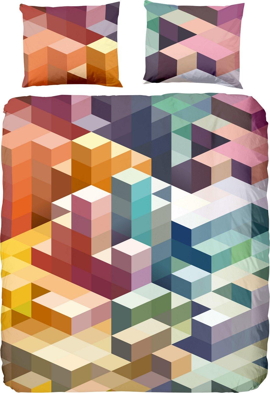 Bettw/äsche Cubes Renforc/é bunt Gr/ö/ße 135x200 cm Good Morning 80x80 cm