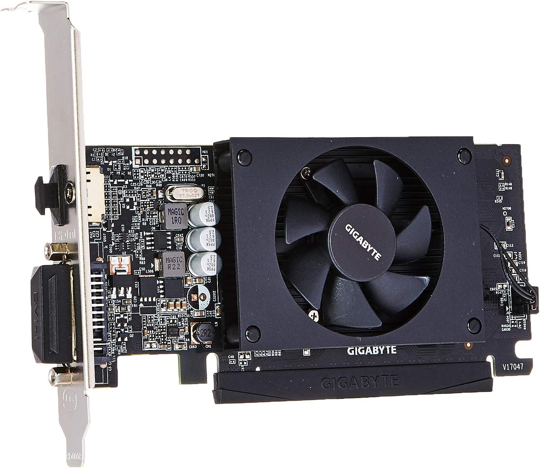 Gigabyte GV-N710D5-2GL - Tarjeta gráfica (GeForce GT 710, 2 GB, GDDR5, 64 bit, 4096 x 2160 Pixeles, PCI Express x8 2.0)